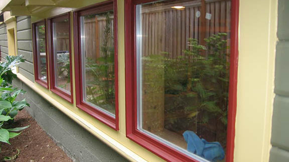 Painted Fir Picture Windows